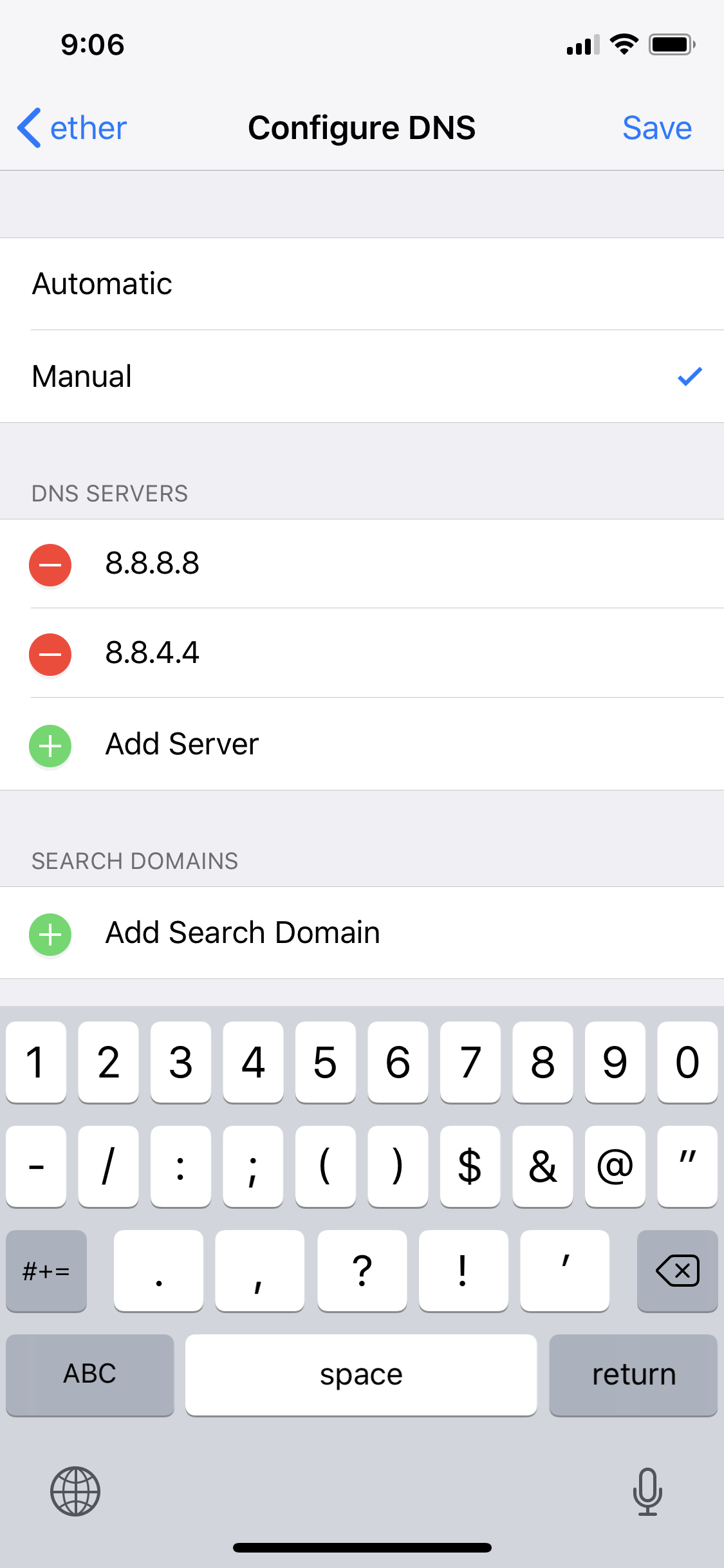 how to get past opendns on iphone