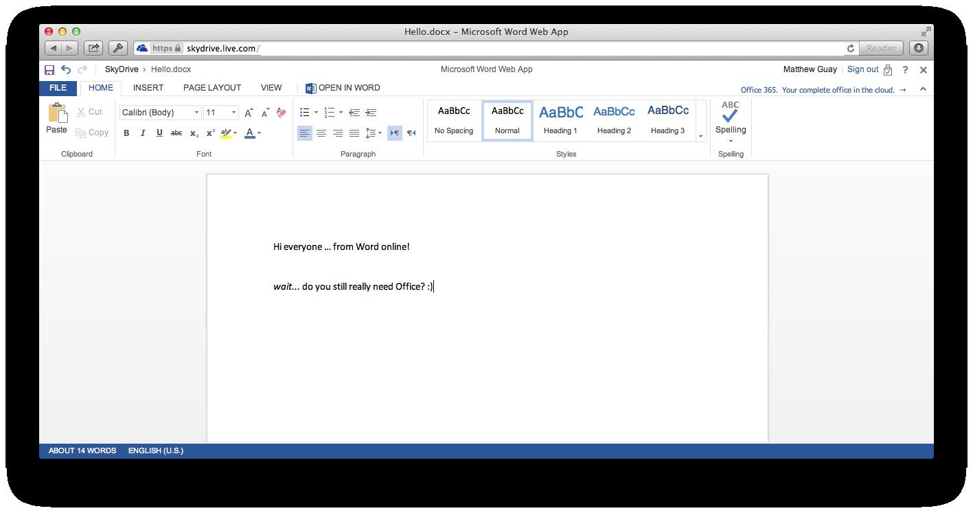 Microsoft Office 2013 Mac
