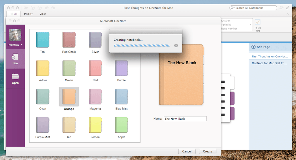 Onenote for mac a promising new notes tool that leaves for Onenote section template