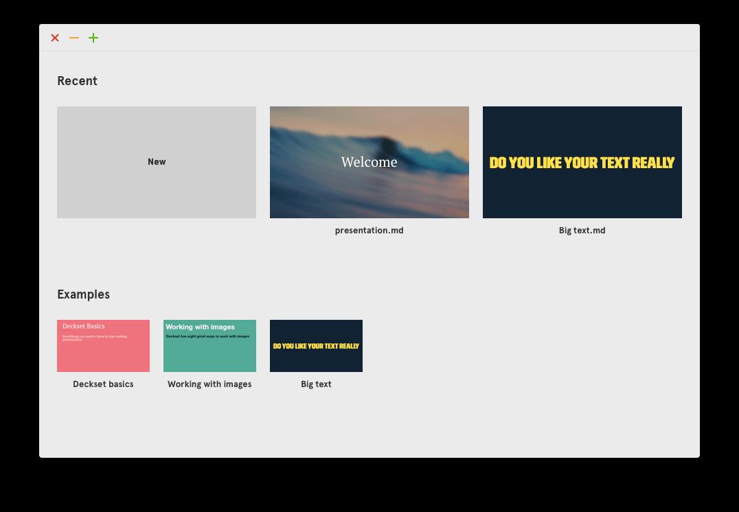 deckset-recent-presentations