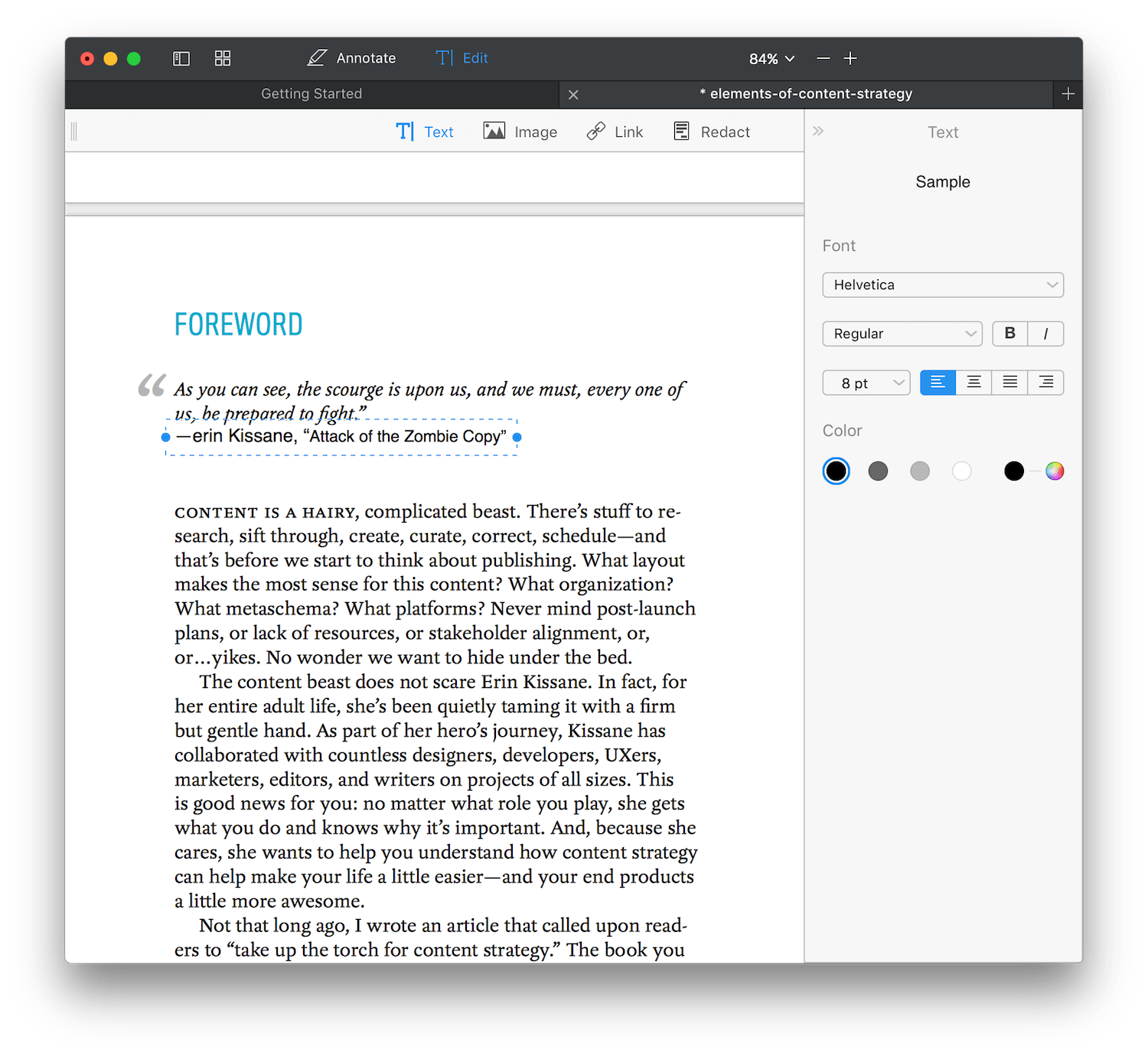 How To Edit Text In A Pdf File With Acrobat Xi Just Tap The Edit Button On  The Top Right, And Toolbar Will Show 4 Tools