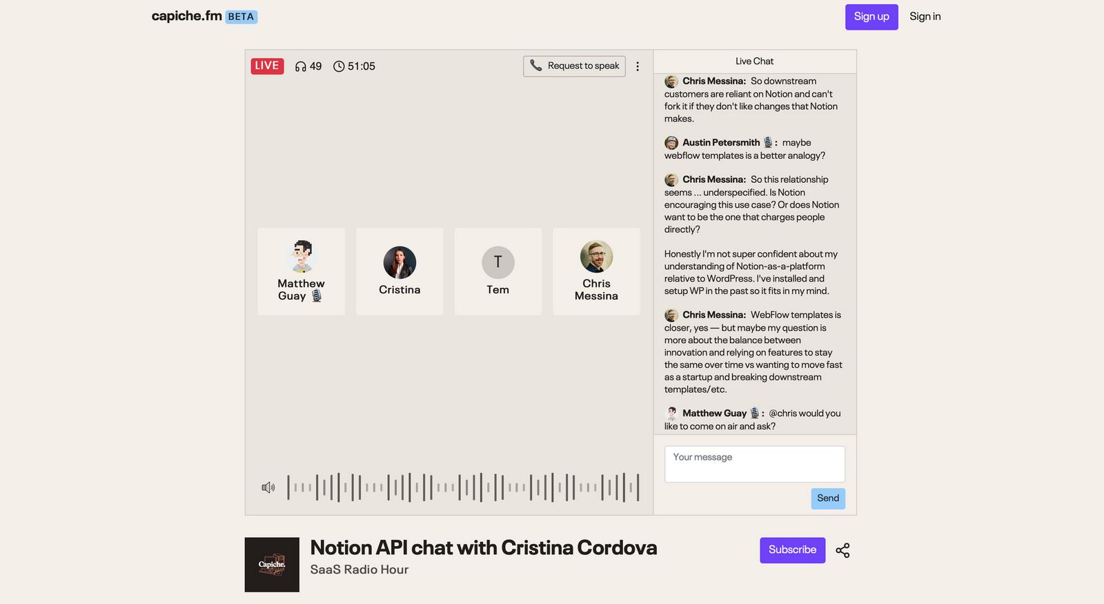 Capiche FM screenshot