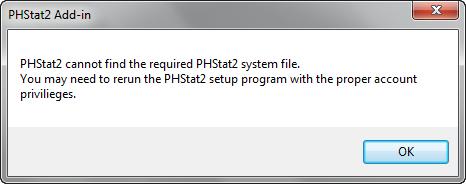 phstat2 para excel 2010