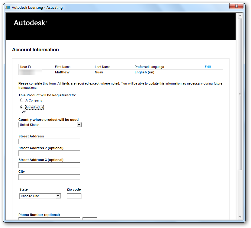 AutoCAD LT 2011 | Activation and Registration | Techinch