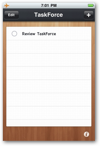 TaskForce | All of Your Todos on One Page on Your iPhone