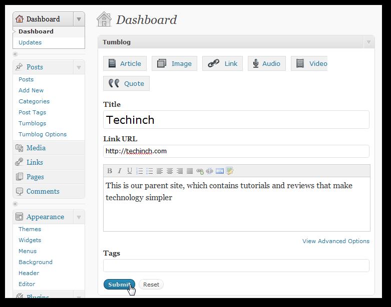 Move Your Tumblr Blog to WordPress | Techinch