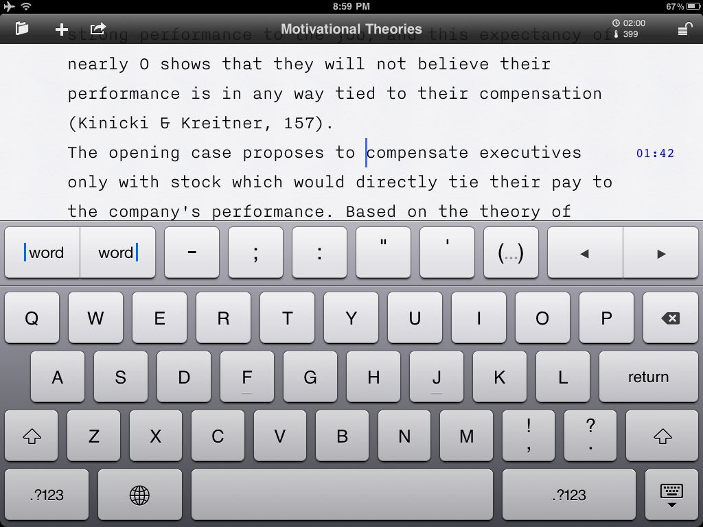 The original iA Writer for iPad