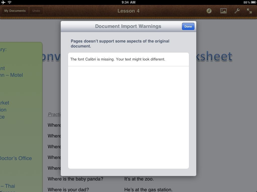Integrate Dropbox with Pages, Keynote, and Numbers on iPad